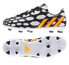 Adidas Predator Absolado (World Cup) Soccer Cleats - Available in adult and youth sizes! This probably looks like the last thing I pinned but really if u look at the patterns closely. There is a very major difference. Messi Soccer Cleats, Cheap Soccer Cleats, Adidas Cleats, Nike Soccer, Adidas Predator, Best Soccer Shoes, Soccer Boots, Trx, Rebel