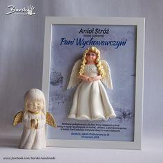 Anioł Stróż dla Pani Wychowawczyni  #aniol #anioł #aniolstroz #aniołstróż #prezent #oryginalnyprezent #ramka #ramkazaniolem #ramkazaniołem #barsko #handmade #rekodzielo #rękodzieło #handmadeangels #myhandmadeangels #dzieńnauczyciela