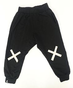 Look at this Mini & Maximus Black No Falling Down Pants - Infant & Toddler on #zulily today!