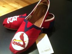 St Louis Cardinals hand painted Toms