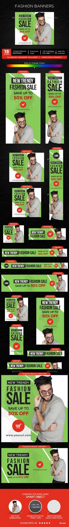 Fashion Sale Banners Template #design #ads Download: http://graphicriver.net/item/fashion-sale-banners/12705601?ref=ksioks