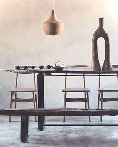 "N F M Design-Atelier Kech¥OTO on Instagram: ""✳︎ K e c h Y O T O  L i v i n g . . . Wabisabi-alignment & excercising the art of favouring minus -  instead of plus + ▾ ⌇ ⌇ 📷  Atelier…"" Instagram Accounts, Modern Interior, Favors, Ceramics, Ethnic, Design, Dining Room, Home Decor, Interiors"