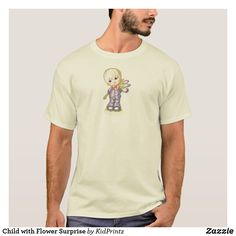 0c88abef8 Child with Flower Surprise T-Shirt But First Coffee, Disney Merchandise,  Fashion Graphic