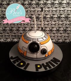 This was a very simple BB-8 Cake I made for my son's birthday.