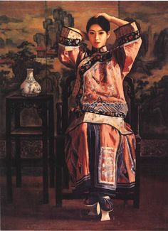 Girl in Festive Costume (1996) by Di Li Feng