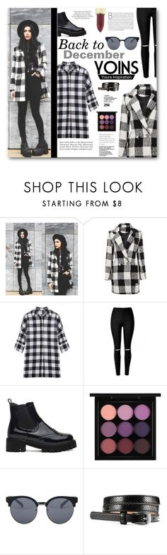 """""""Go Back To December"""" by tasnime-ben ❤ liked on Polyvore featuring MAC Cosmetics, Quay, Yves Saint Laurent, ASOS and yoins"""