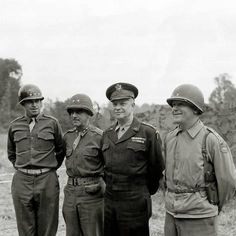 General Dwight D. Eisenhower will decorate his generals with the Distinguished Service Medal with oak leaves. July From left to right: Lieutenant General Omar Nelson Bradley - Army; Get premium, high resolution news photos at Getty Images Military Careers, Military History, Military Post, Ww2 History, George Patton, Dwight Eisenhower, Service Medals, United States Army, Korean War