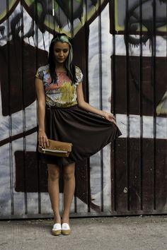 Vestido Flora de textil reutilizado y polirayón.