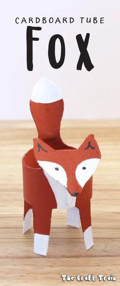Cardboard Tube Fox