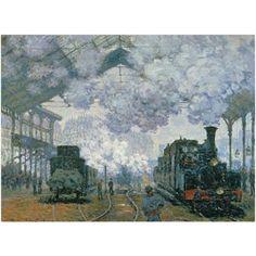 Trademark Fine Art Gare Saint-Lazare Arrival of a Train Canvas Art by Claude Monet, Size: 26 x 32, Multicolor
