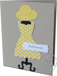 CARD: Dress Up with an Oval Sunhat | Stampin Up Demonstrator - Tami White - Stamp With Tami Stampin Up blog