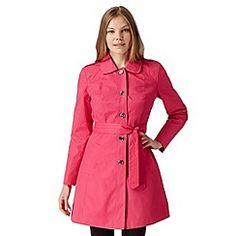 Principles by Ben de Lisi - Designer pink belted mac coat