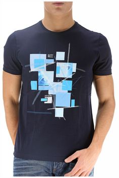 Fendi - Abbigliamento - T.Shirt - FY0594H95F0ZPK (139,50€) #fendi #tshirt #cotton #stamp #blue #summer #collection #fashion #cool