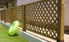 Ideas originales para cercar el jardín Cabana, Gazebo, Pergola, Wall Railing, Lattice Fence, Outdoor Furniture, Outdoor Decor, Garden Projects, Trellis