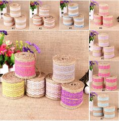 6cmx2M 12pcs/lot Jute Burlap Ribbon Lace Trim Tape Rustic Natural Hessian Roll Wrap Home Decoration Wedding Party Gift Decors -in Event & Party Supplies from Home & Garden on Aliexpress.com   Alibaba Group
