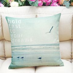 6.83$  Watch here - http://dieq0.justgood.pw/go.php?t=189263401 - Sweet Home Decor Square Sea Mew Letter Pattern Pillow Case
