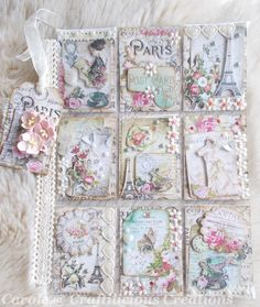 Hello Today I'm sharing my latest Pocket Letter which is finding its way across the pond to Canada. The theme I have chosen for my swap partner is Vintage Parisian. I used printable collage sheets inc Pocket Pal, Pocket Cards, Atc Cards, Card Tags, Pocket Scrapbooking, Scrapbook Paper, Shabby Chic Cards, Vintage Crafts, Victorian Crafts