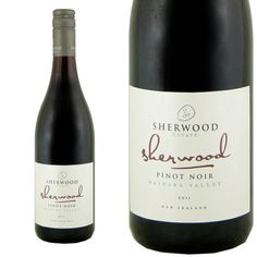 Sherwood from New Zealand  Aromatic pinot noir.   Light bodied and refreshing  Harmonius  Good value   To be served lightly chilled 13 to 14 C