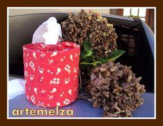 ARTEMELZA - Arte e Artesanato: Porta papel higiênico para carro.