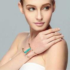 Sail With Me Minimalist Bracelet In Turquoise by Evabella Collections on Opensky