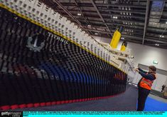 Here's a recreation of the Titanic made entirely out of LEGO