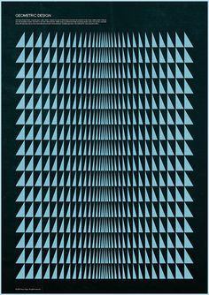 Retro Geometric Design Print by Simon C Page, via Flickr