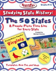 (255 pages!) Students will demonstrate an understanding of state history with this easy-to-make, interlocking, puzzle-piece time line. After students use textbooks, trade books, and the Internet to learn about important events in a states history, they will organize their learning by creating a fact-filled time line that highlights the events significance.