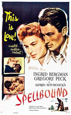 Directed by Alfred Hitchcock. With Ingrid Bergman, Gregory Peck, Michael Chekhov, Leo G. Old Movie Posters, Classic Movie Posters, Cinema Posters, Movie Poster Art, Film Posters, Classic Movies, Poster Frames, Gig Poster, Retro Posters