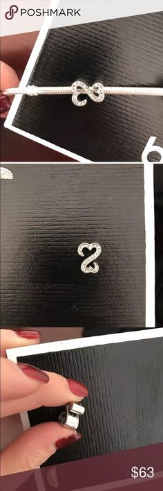 Sterling silver/Chrystal RETIRED heart charm New from Kay jewelers chain not included charm only Kay Jewelers Jewelry Bracelets