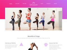 Blossom is a clean and modern Health Free HTML Template. A professional website for Yoga, Pilates, Meditation, Spa, Wellness, Sports & Health and any other sports businesses. Your Yoga & Health club had never had a better face then now with our beautiful template.