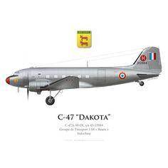 """C-47A Dakota, Groupe de Transport 1/64 """"Béarn"""", Indochine"""
