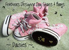 Daisies Designer Dog Shoes by FetchersDogShoes on Etsy