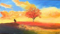 Welsh Hillside Walk : Acrylic painting, Easy Lesson for beginners,