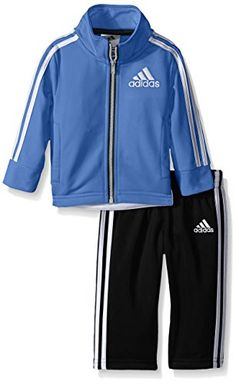 adidas Baby Boys Fashion Tricot Jacket and Pant Set Light Marina 9 Months * More info could be found at the image url.