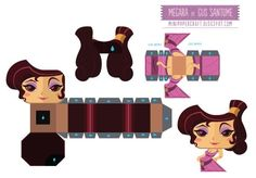 Megara mini papertoy (Disney)