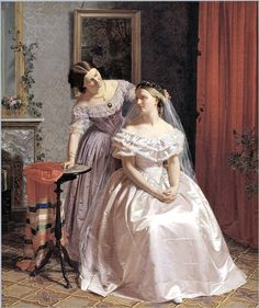 1859 Henrik Olrik (1830-1890) The Bride is Attended by her Friend