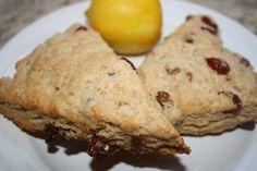 Delightful Whole Wheat Lemon Berry Scones | Lauren Kelly Nutrition