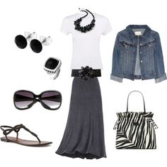 """The Long Skirt Style"" by jlrobinson27 on Polyvore"
