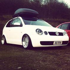 #polo #9n #vw #dub #euro #vag #wrapped #matt #white #deep #dish Vw Polo Modified, Volkswagen Polo, Ae86, Vw Cars, Deep Dish, Classic Cars, Pride, Wheels, Pasta