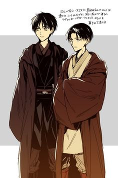 Rivaille (Levi) and Eren Jaeger (Attack on Titan Star Wars style 2)