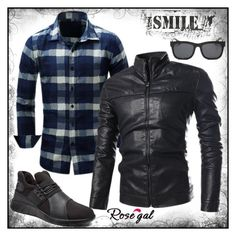 """Win $20 Cash from Rosegal!"" by dee-dee-01 ❤ liked on Polyvore featuring men's fashion, menswear, black, jacket, ForMen and rosegal"