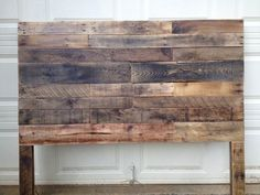 recycled pallet rustic headboard - Before After DIY Diy Headboards, Wood Headboard, Headboard Ideas, King Headboard, Full Size Headboard, Double Headboard, Into The Woods, Headboard Designs, Diy Pallet Furniture