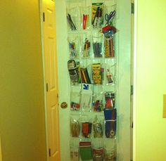 Genius! Use a see-through organizer for all your school supplies. Makes it easy to see what you have and what you need all year long. http://thestir.cafemom.com/big_kid/175229/genius_school_organization_tips_hacks
