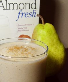 Vegan Pear Almond Spice Smoothie - Dairy-Free, Gluten-Free, Soy-Free, and Sugar-Free