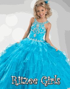 #Ritzee Girls #Pageant Dress  #6344