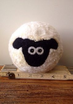 Wool Felt Sheep by WoolyDoodles4u on Etsy