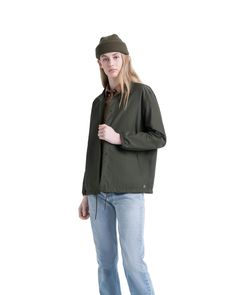 Voyage Coach Jacket Womens | Herschel Supply Company Man And Woman Silhouette, Fishtail Parka, Wind Jacket, Self Storage, Herschel Supply, Rain Wear, Welt Pocket, Military Jacket, Jackets For Women
