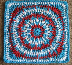 Spikey Circle Afghan Square by Julie Yeager - Block 13  - Moogly 2014 Afghan CAL (with pattern link)