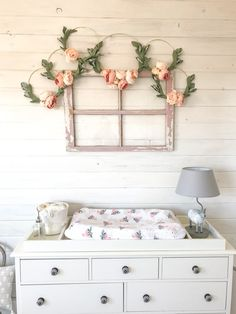 DIY nursery wall art | Baby Girl Boho Woodland Nursery - Farmhouse Blooms
