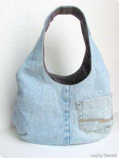 Tamdoll's Reversible Goonies Bag Denim Side